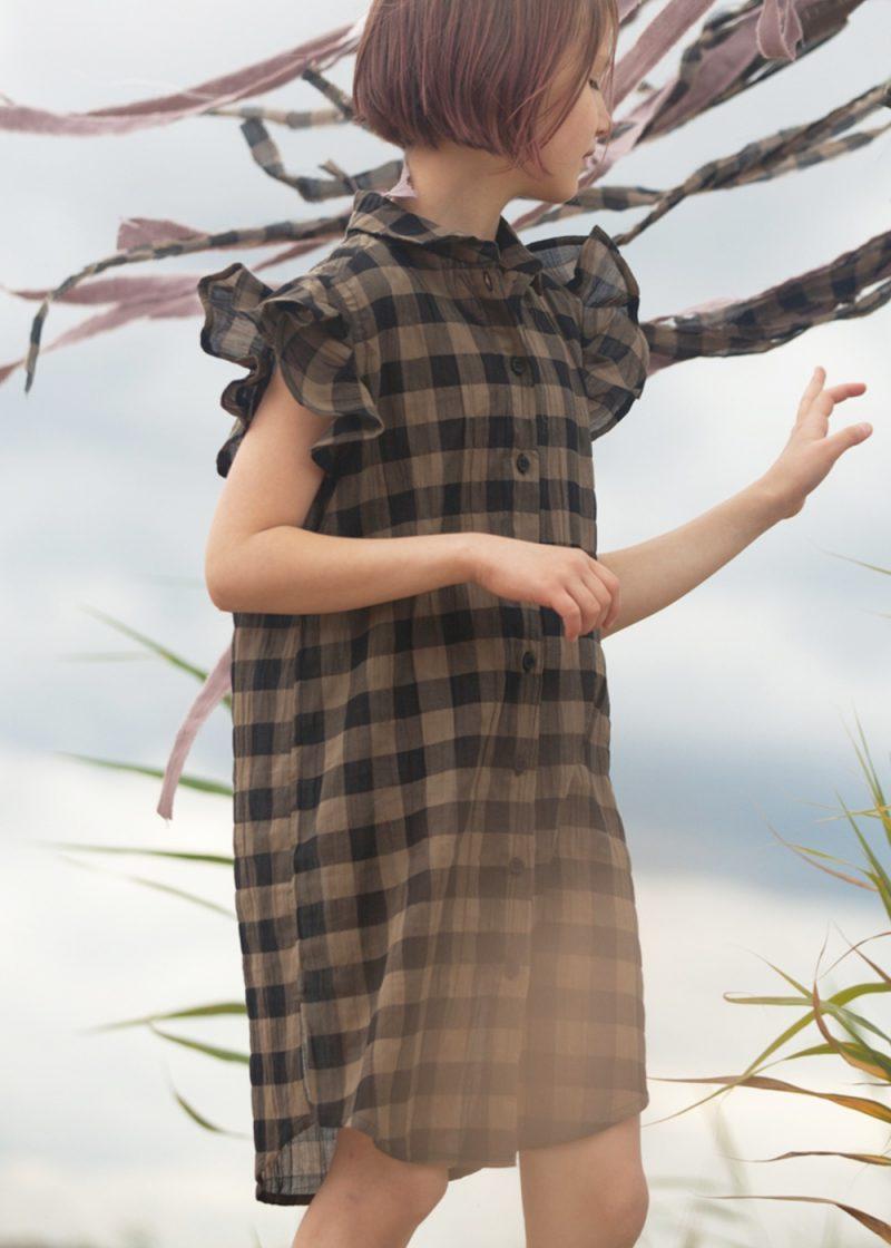 We are all SS21 - sukienka w kratkę khaki