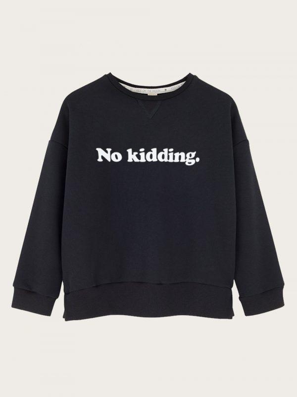 Kids on the Moon - czarna bluza z nadrukiem