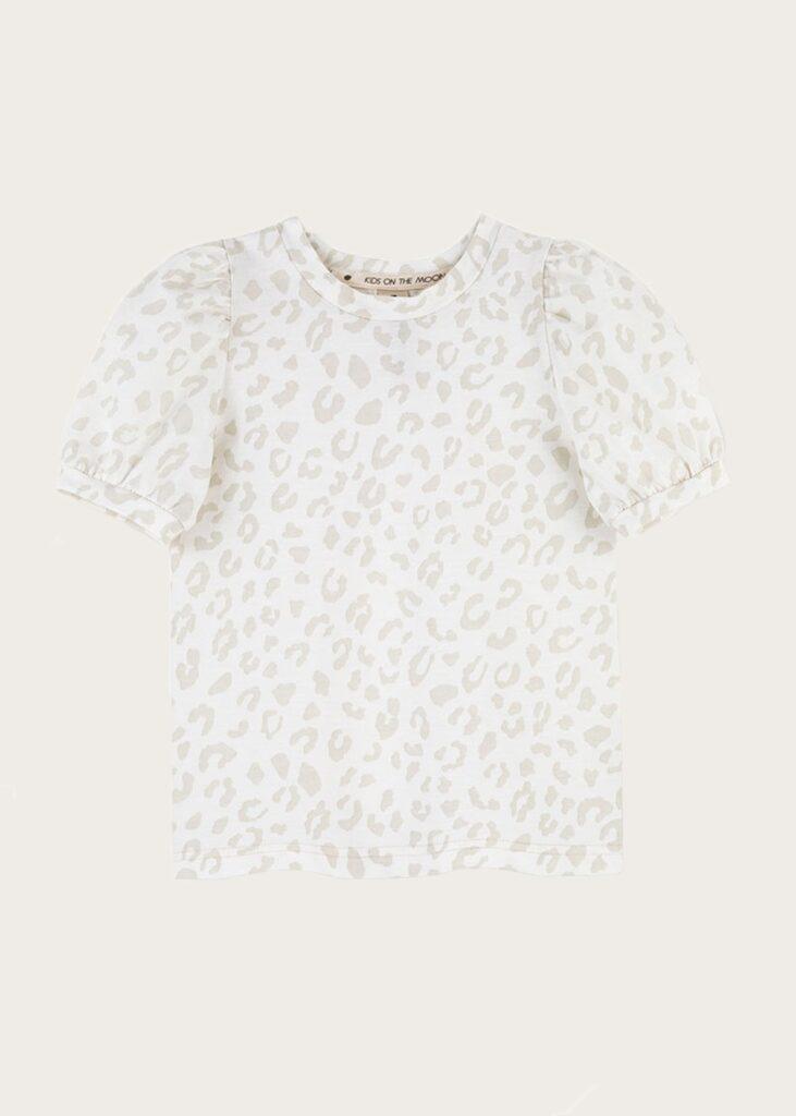 bluzka z bufkami Leopard Mist