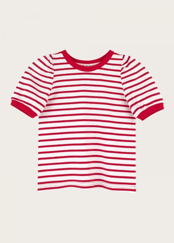 bluzka z bufkami Red Stripes