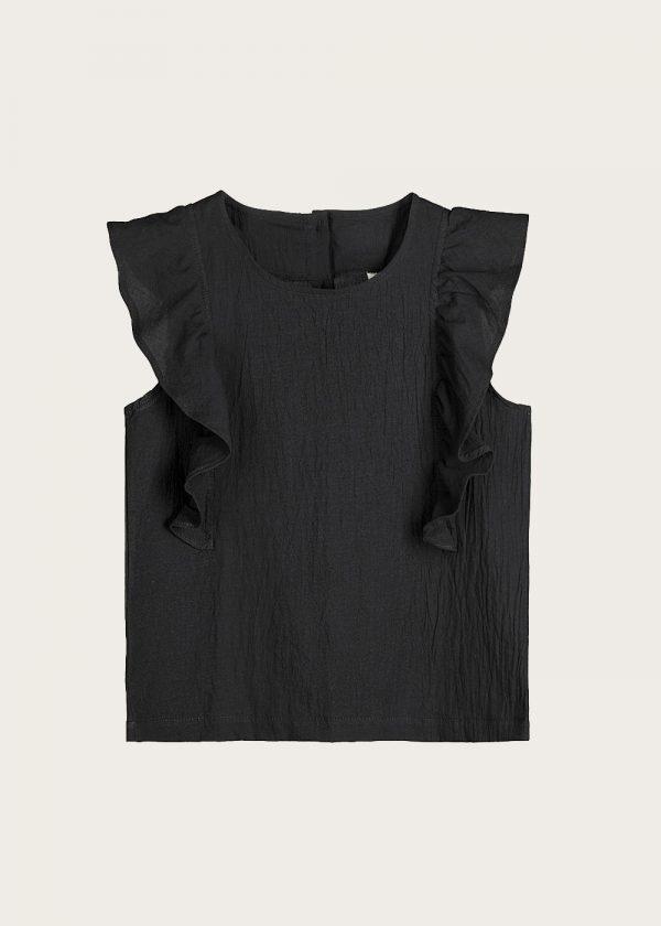 bluzka z falbankami Noir