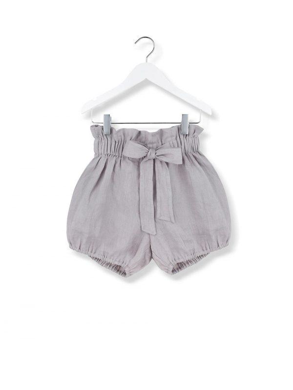 bow shorts grey