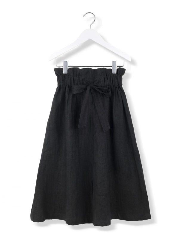bow skirt black