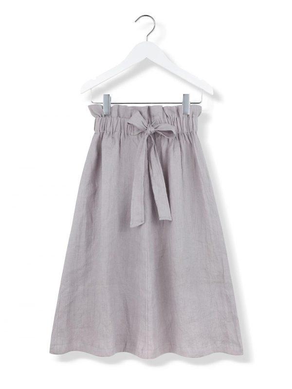 bow skirt grey