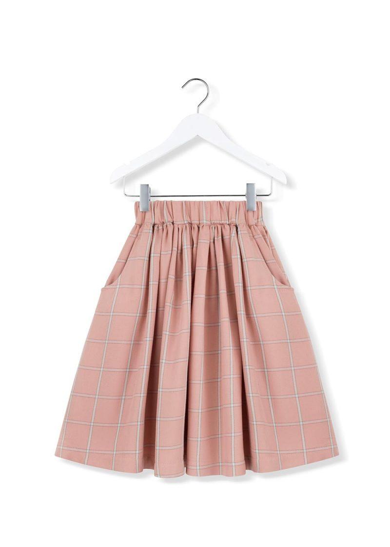 coral plaid skirt