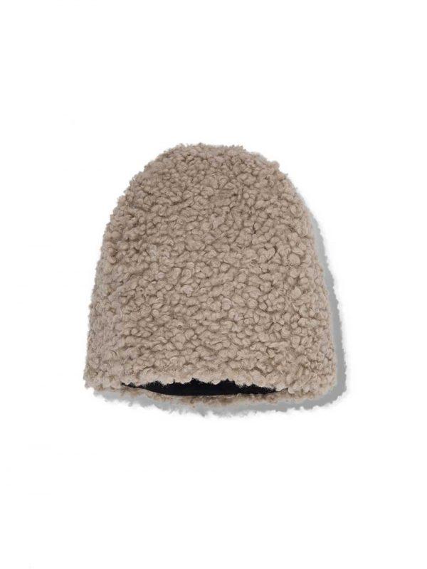 gerda faux fur cap beige