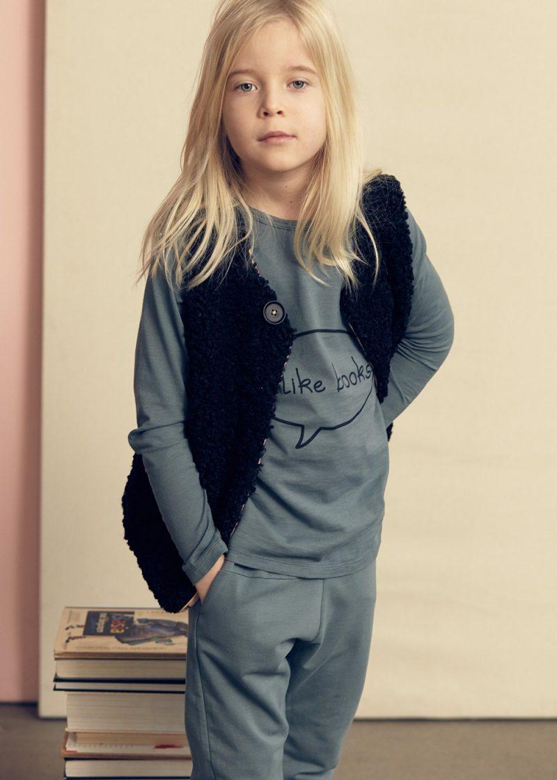 kai faux fur vest