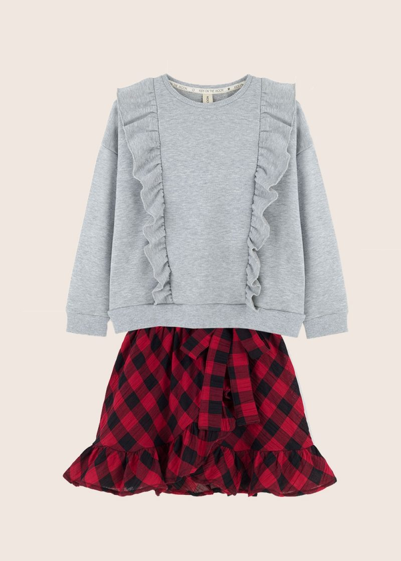 Kids on the Moon - zestaw bluza i spódnica