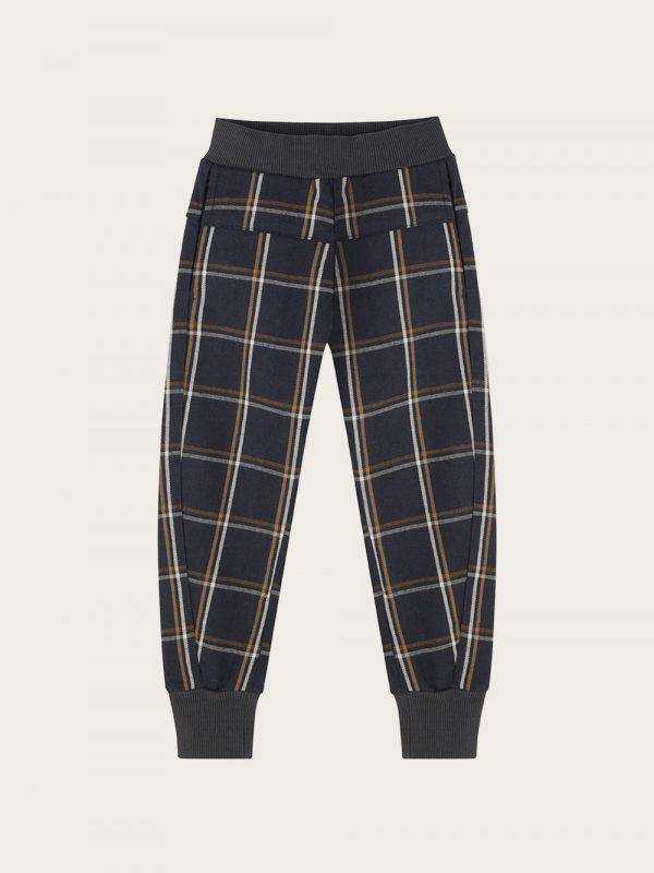 spodnie-chłopiece-w-kratke--joggers-