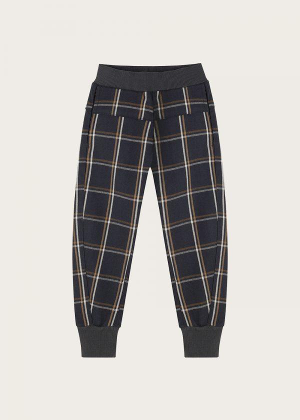 spodnie-chłopiece-w-kratke--joggers-plaid-check