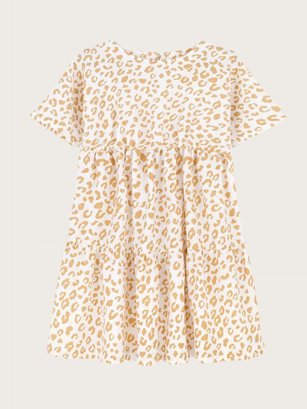 Sukienka z falbanami Golden Leopard