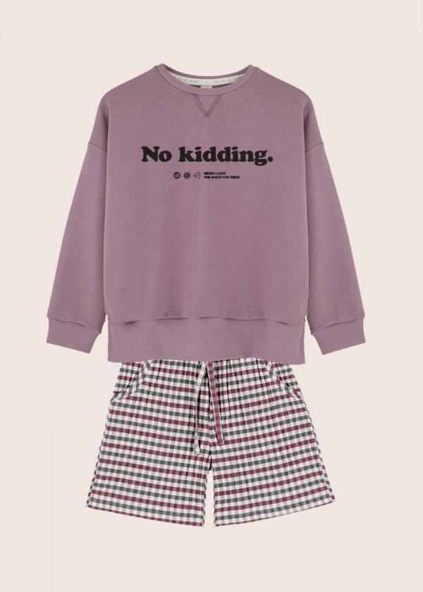 Kids on the Moon - zestaw szorty bluza