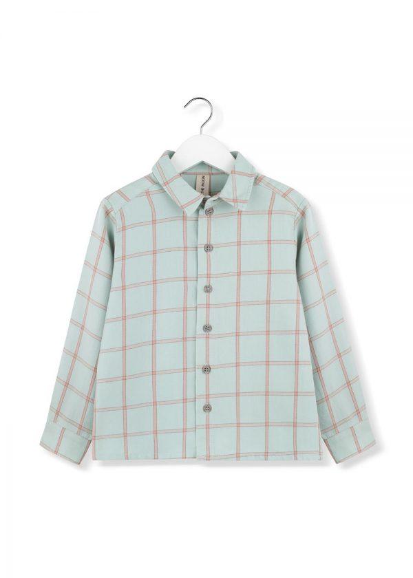 mint plaid shirt