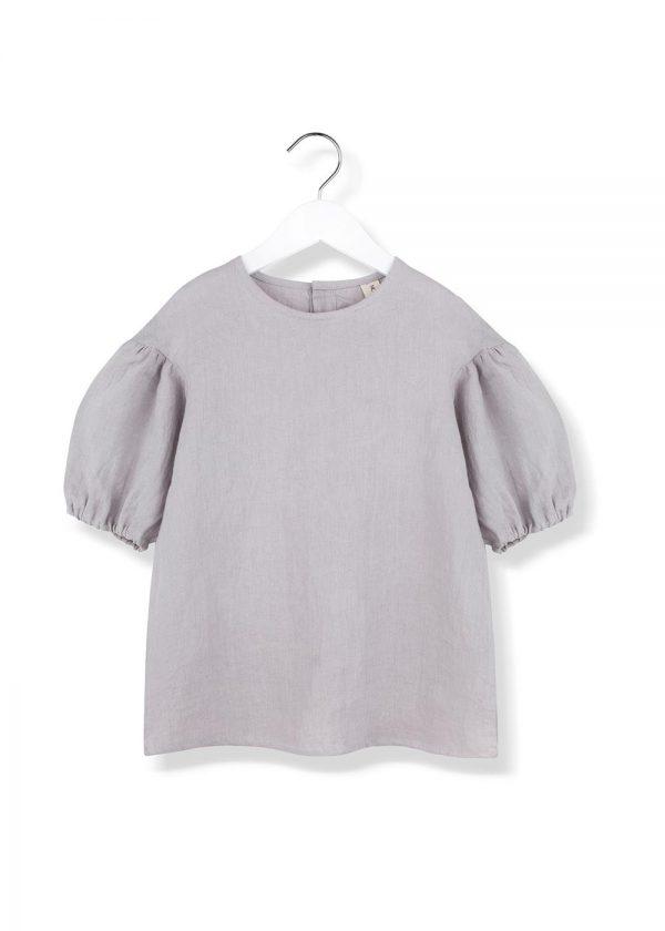 puf puf blouse grey