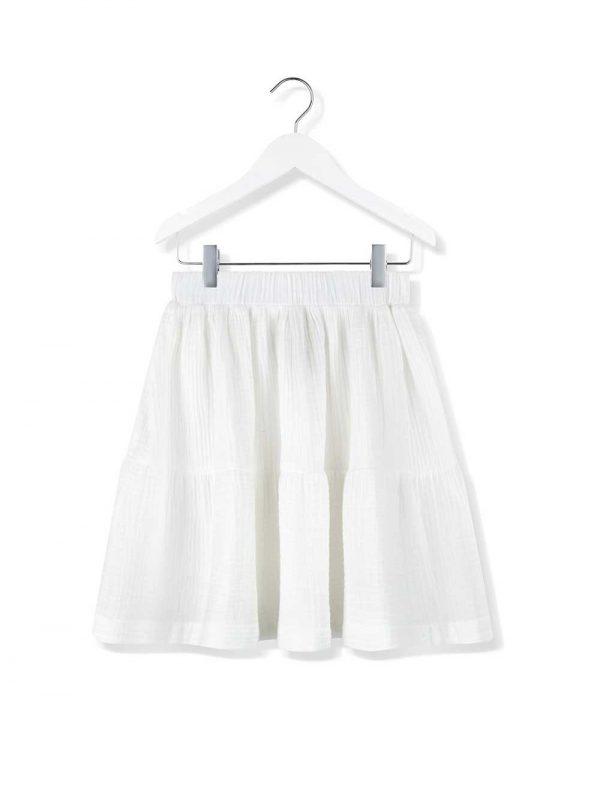 spódnica z falbaną cloud dancer