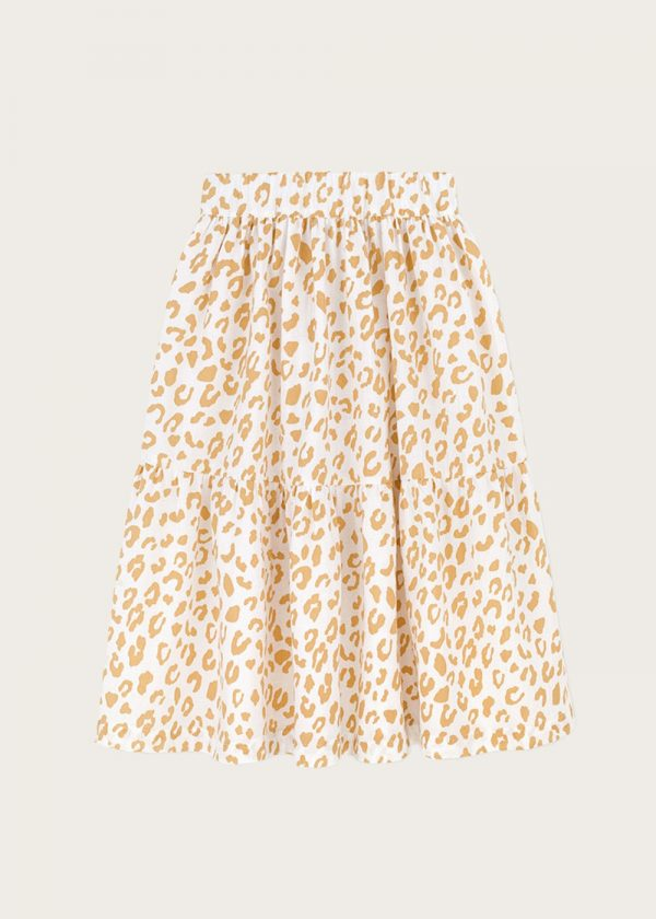 spódnica z falbanami Golden Leopard