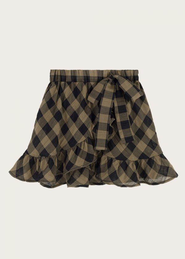 spódnica z falbankami Classic Check Khaki
