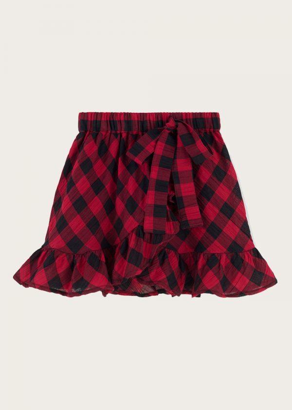 spódnica z falbankami Classic Check Red