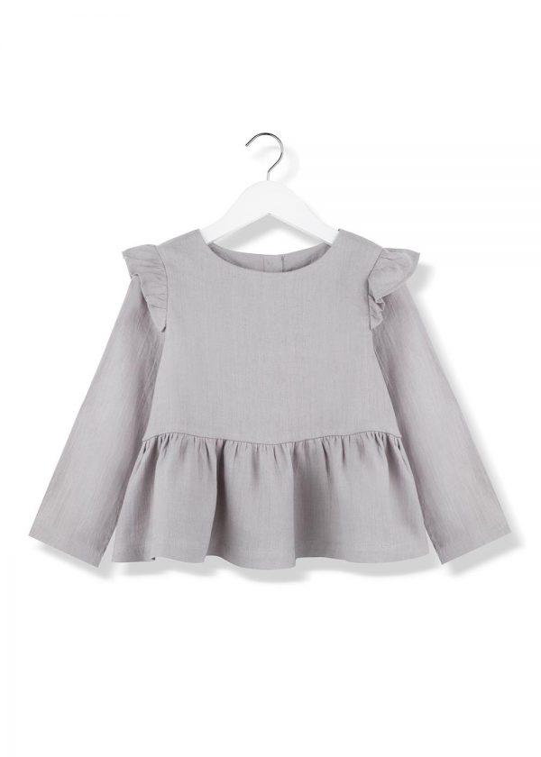 stone frill blouse