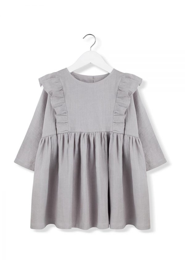 stone frill dress