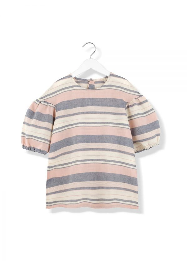 striped puf puf blouse