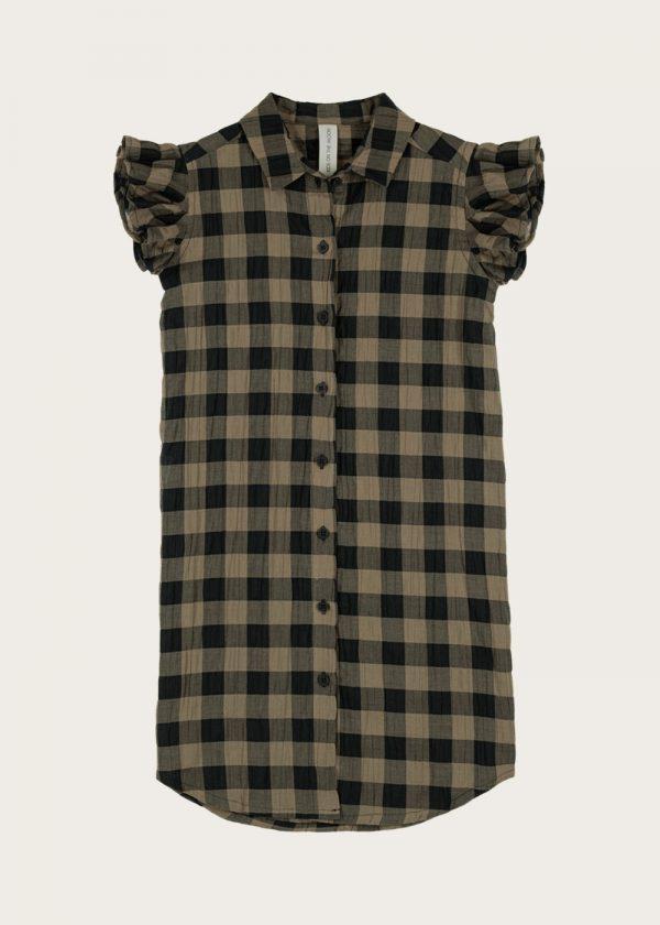 sukienka koszulowa Classic Check khaki