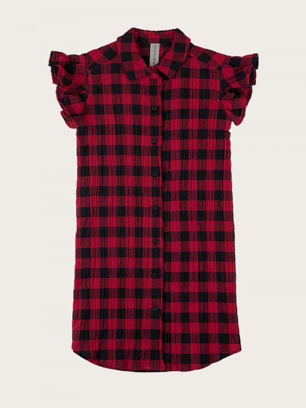 sukienka koszulowa Classic Check Red