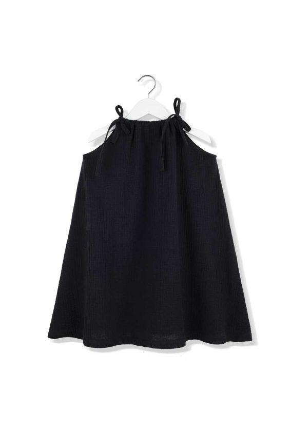 muślinowa sukienka na ramiączkach