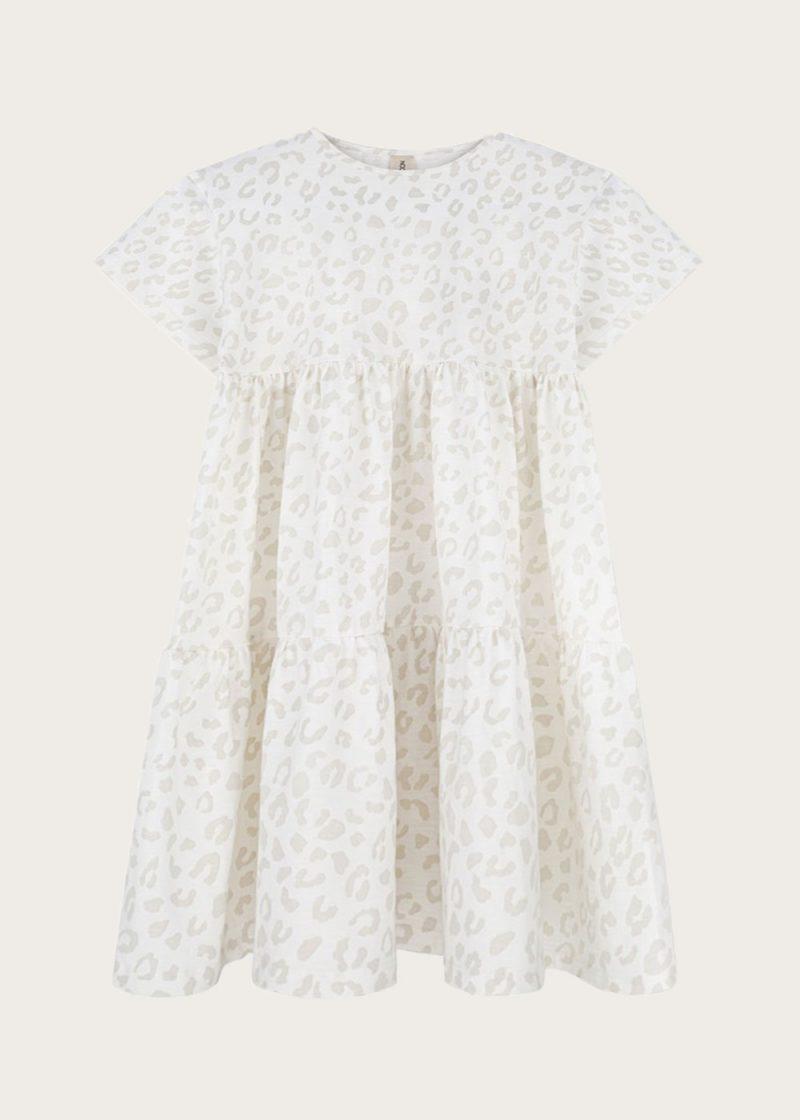 sukienka z falbanami Leopard Mist
