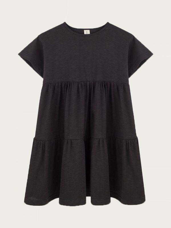 Sukienka z falbanami Noir