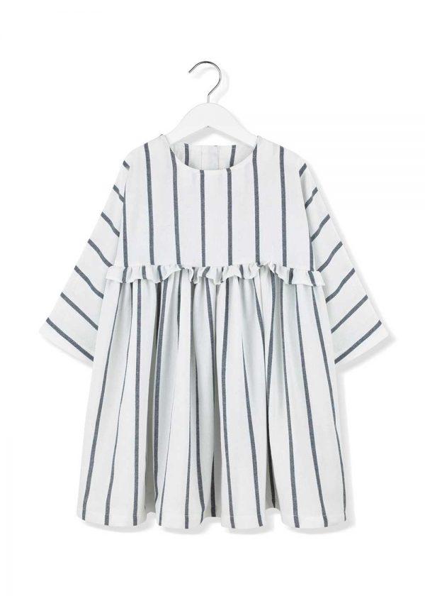 sukienka w paski z falbanką