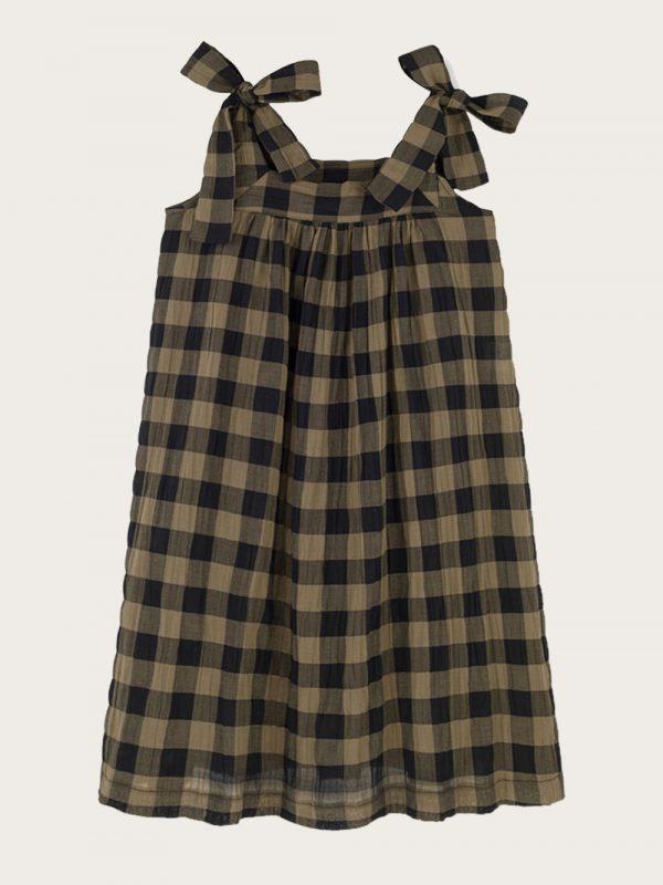 sukienka z kokardkami Classic Check Khaki