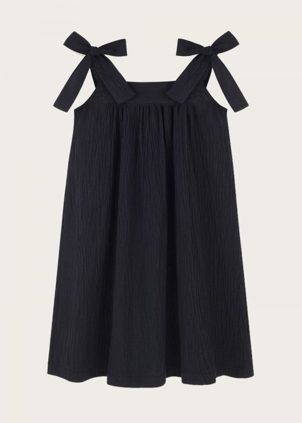 sukienka z kokardkami Noir