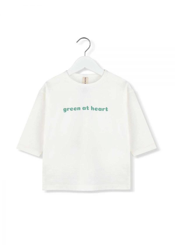 top z rękawami 3/4 green at heart