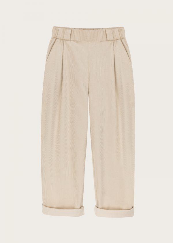 Damskie spodnie sztruksowe