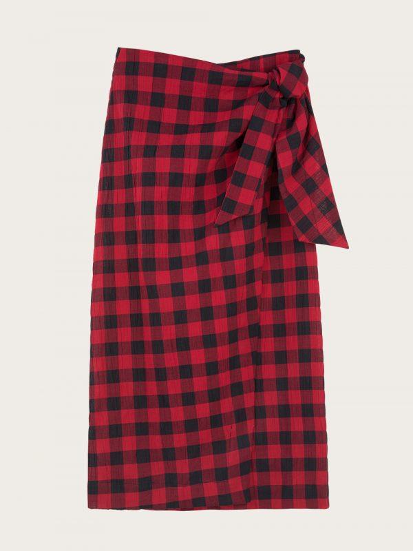 Mama club - spódnica czerwona kratka