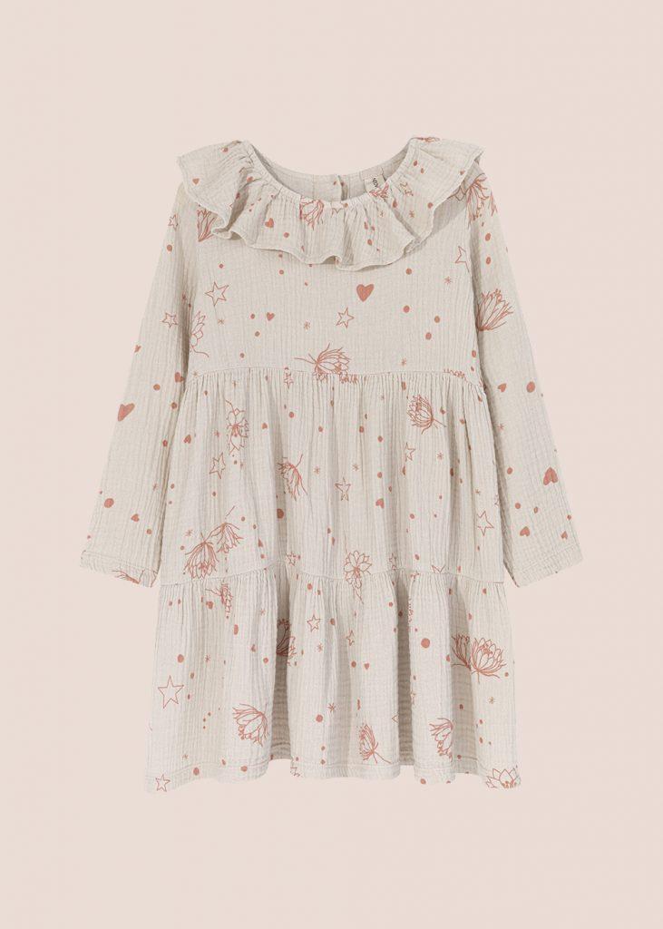 sukienka Starflower kremowa