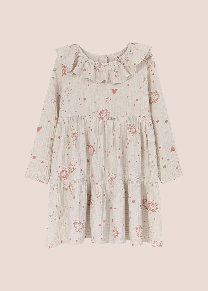 Starflower collar dress cream