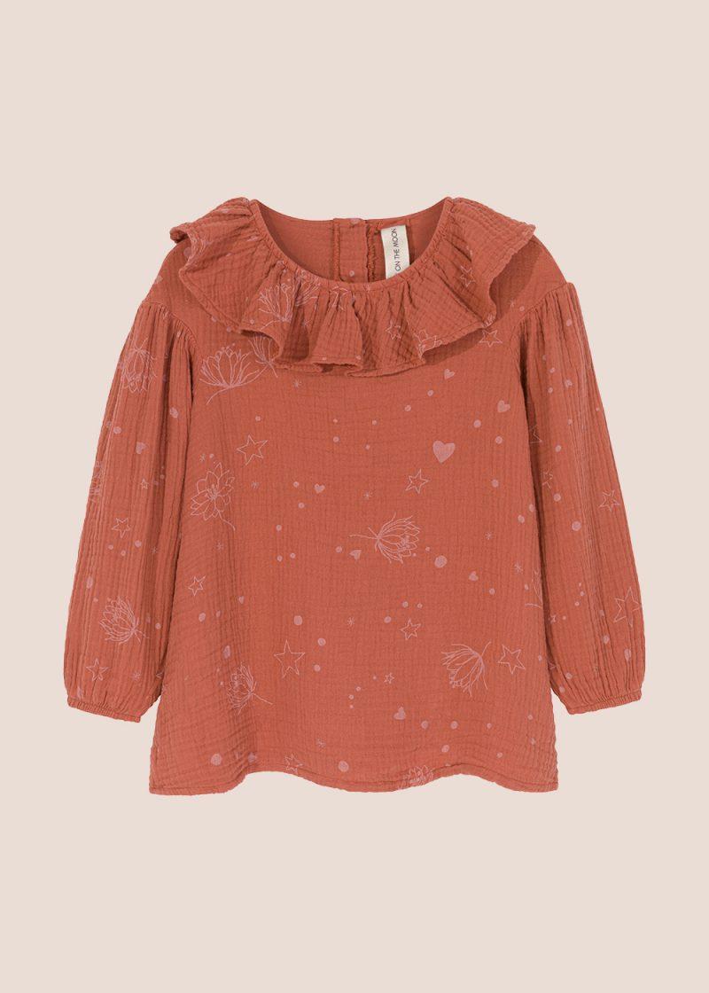 Starflower collar blouse ginger
