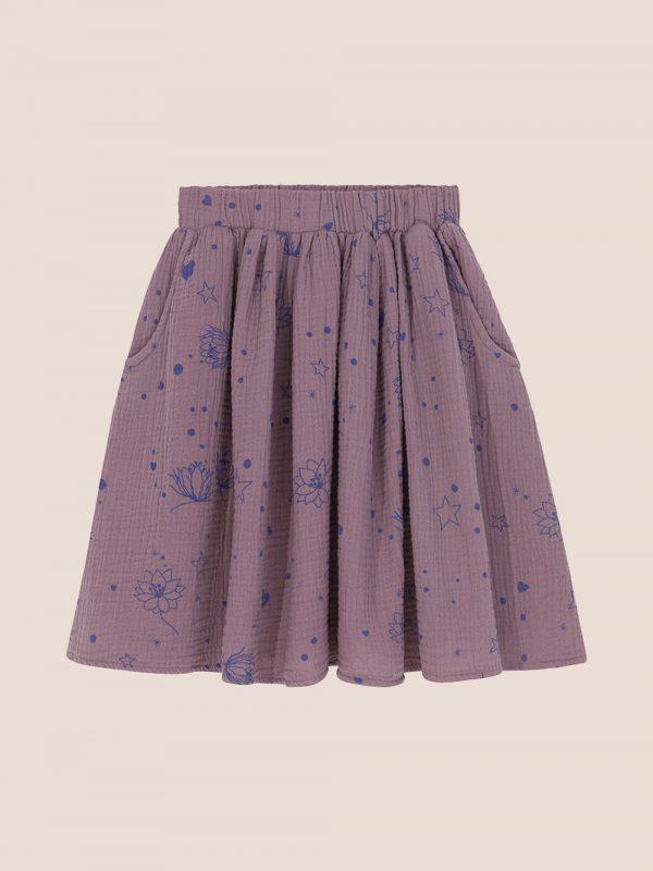 Starflower skirt purple