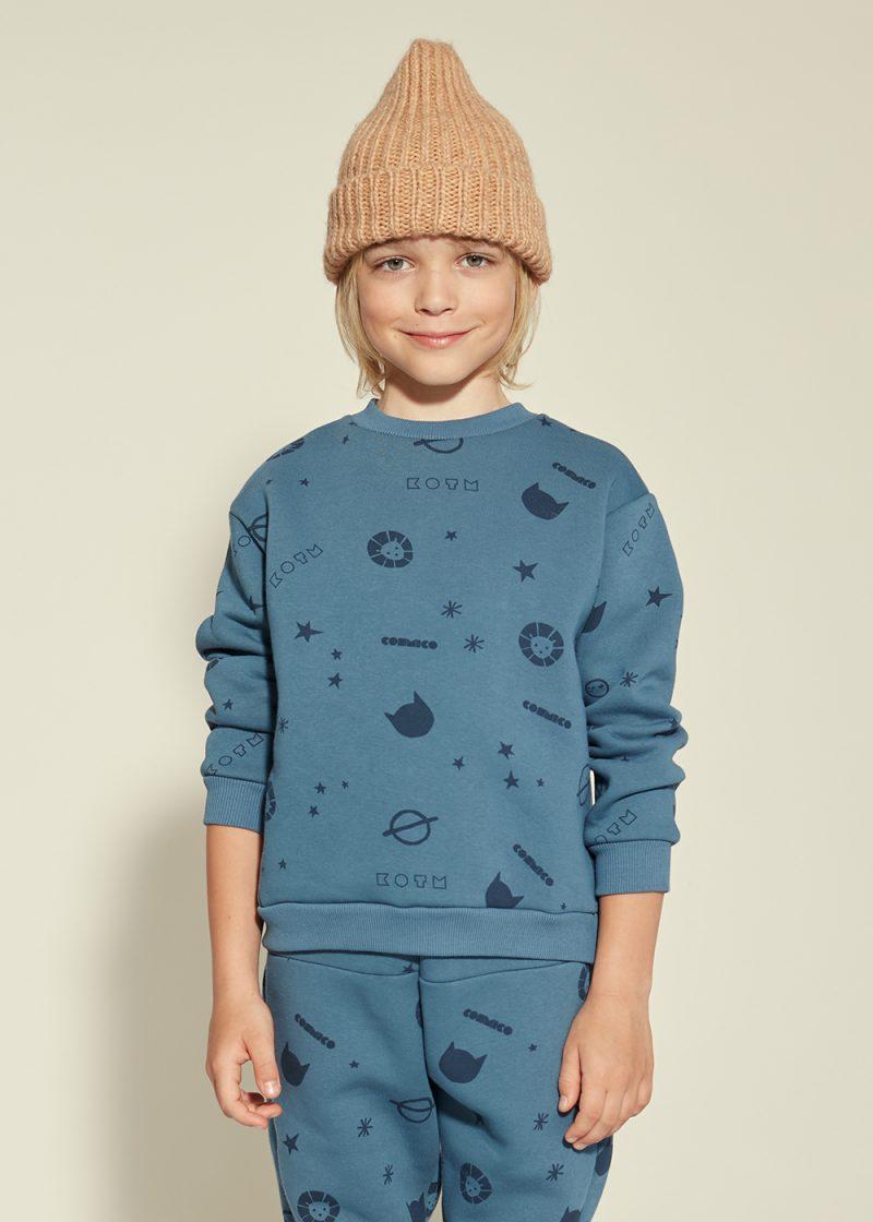 bluza z nadrukiem, allover print, cosmico