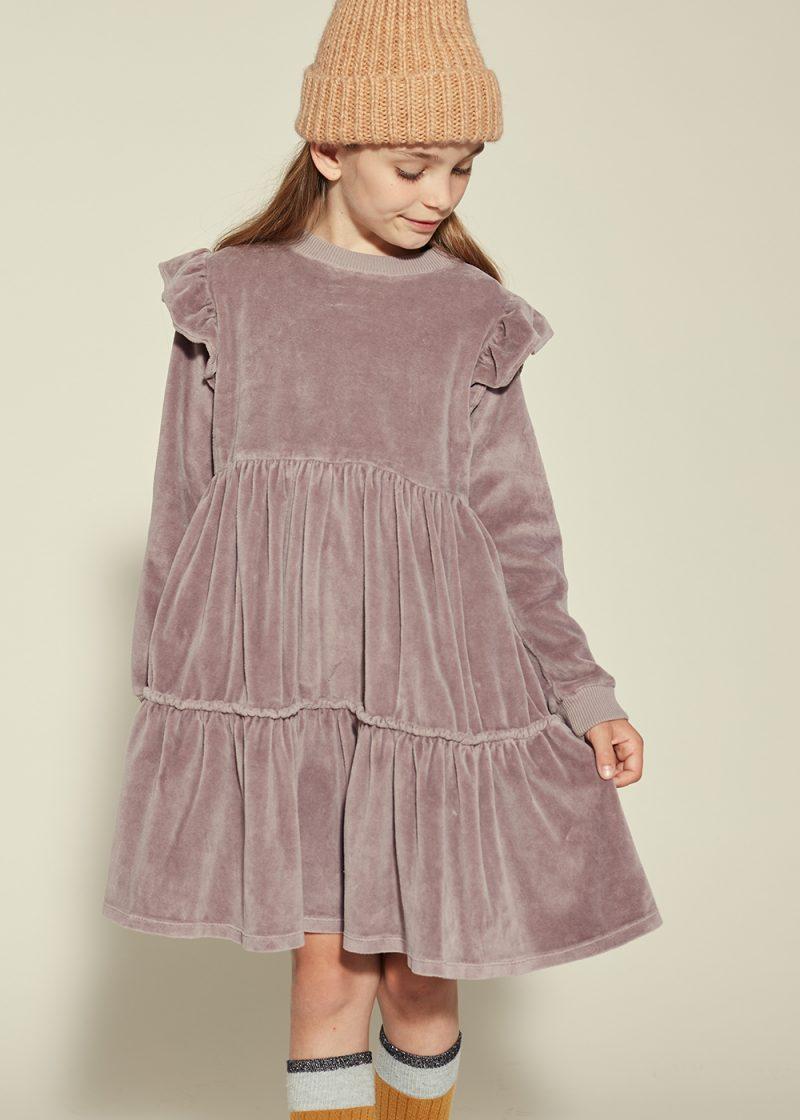 sukienka na święta, welurowa sukienka
