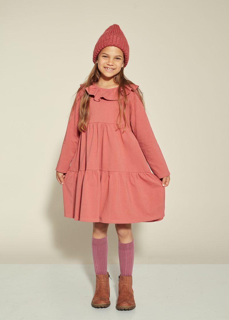 jersey dress, frill dress