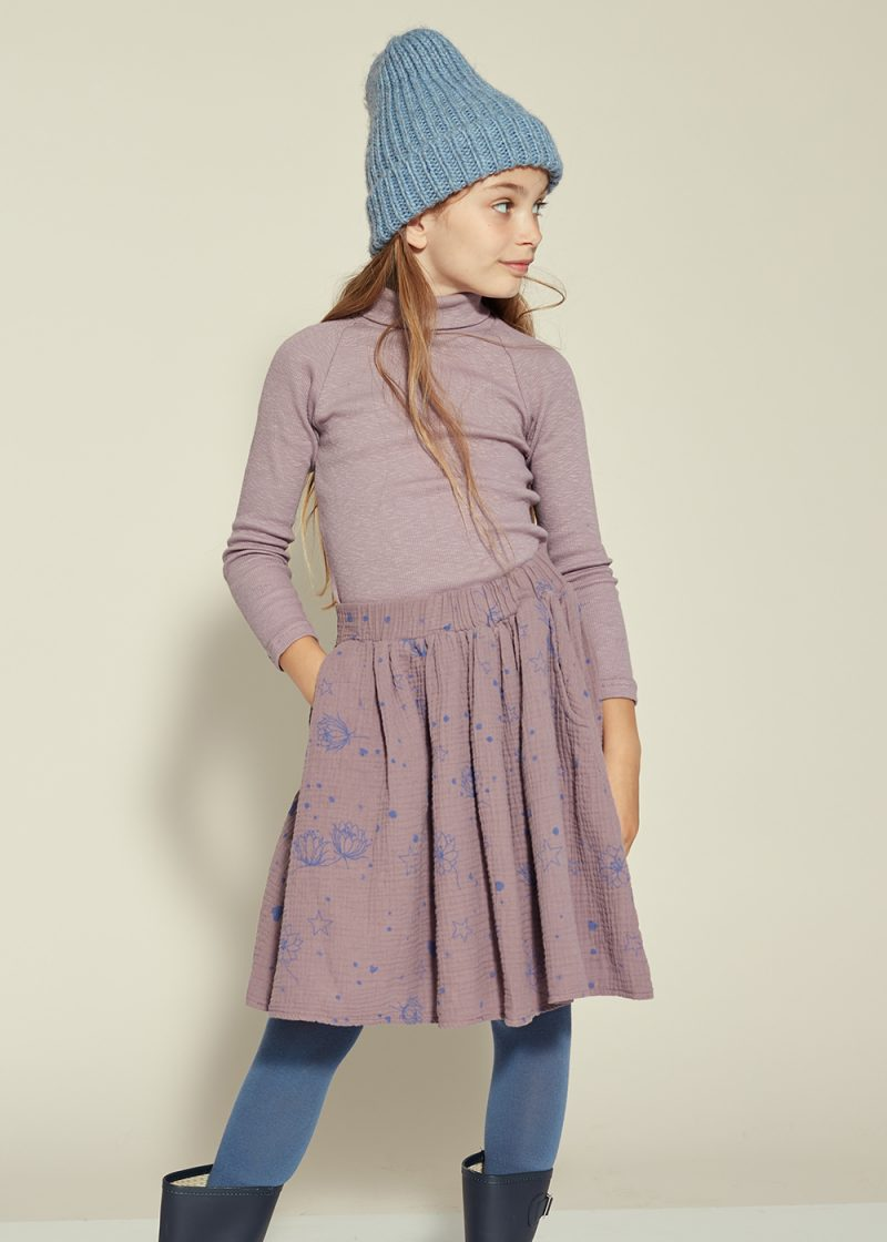 purple roll neck