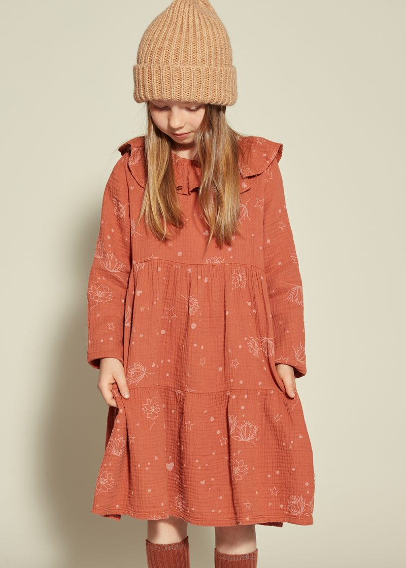 sukienka starflower ruda