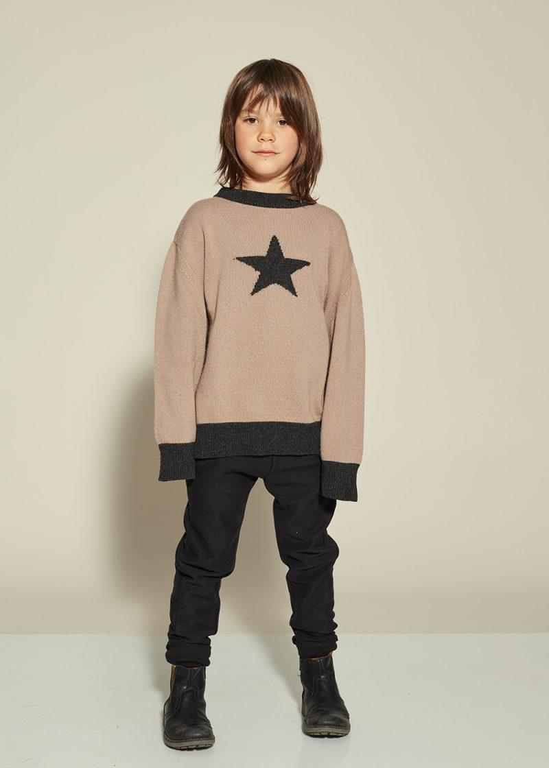 sweter z gwiazdą, recycling knitwear
