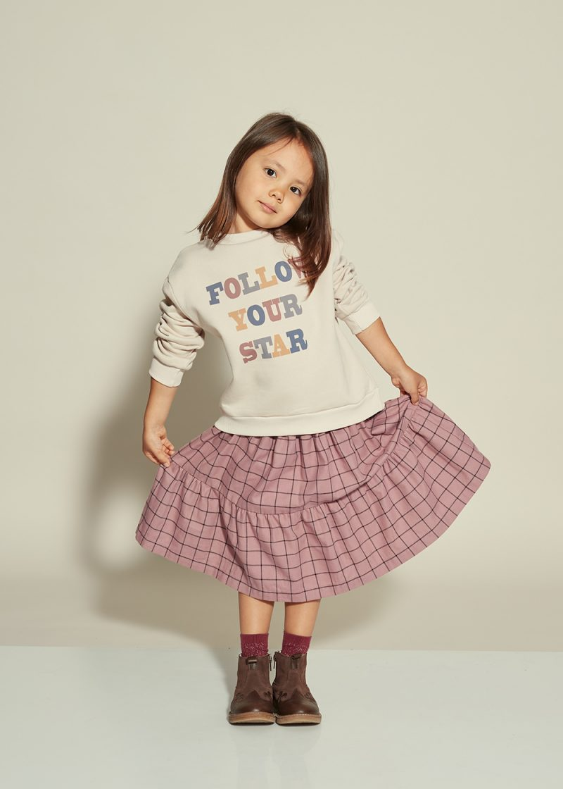 spódniczka w kratkę fioletowa, frill purple skirt
