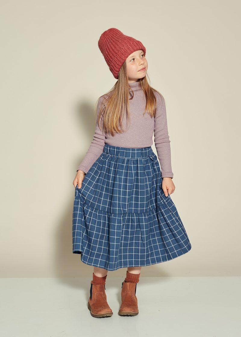 granatowa spódniczka w kratkę, spódnica w kratę, navy blue skirt, plaid skirt