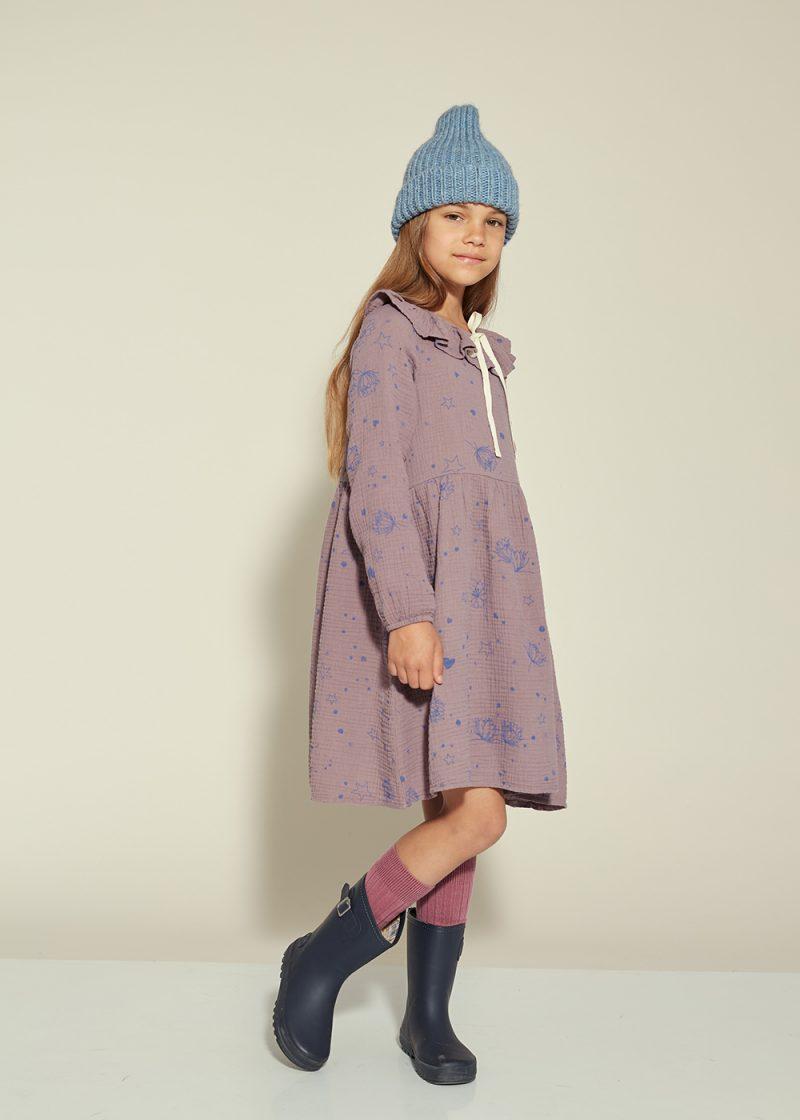starflower bow dress purple