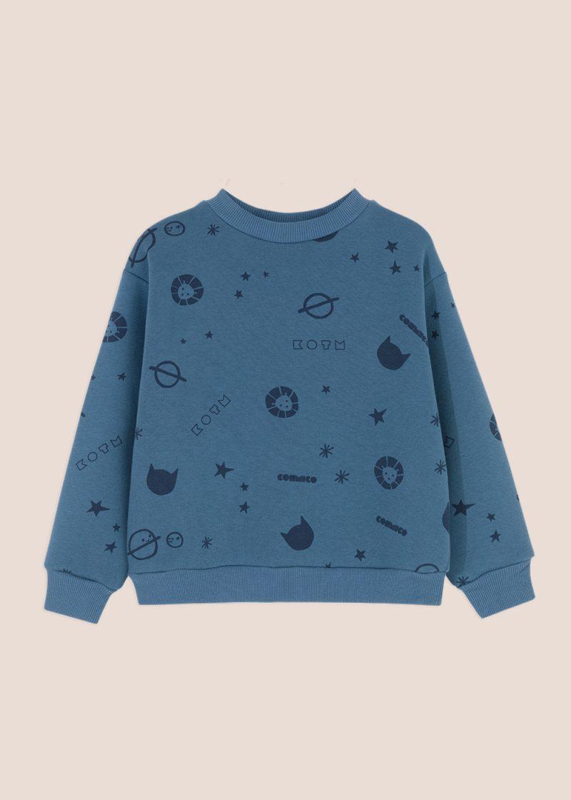 bluza z nadrukiem, bluza dzianinowa , allover prin sweatshirt, cosmic sweatshirt